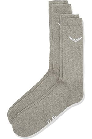 Men Underwear - Trigema Men's Athletic Socks (Pack of 2)Grey 47/48