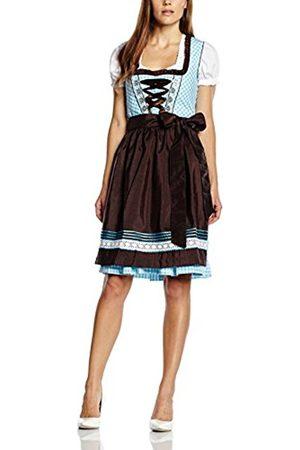 Women Sleeveless Dresses - Women's 5679 Dirndl Checkered Sleeveless Dress