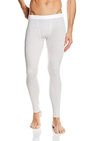 Men Ski Thermal Underwear - Trigema Men's Thermal Bottoms White Small