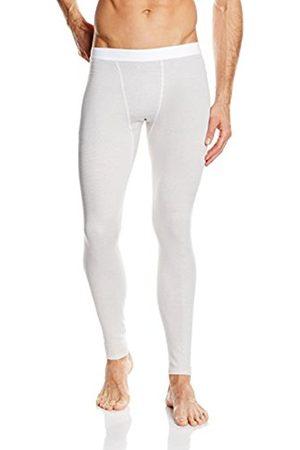 Men Ski Thermal Underwear - Trigema Men's Thermal Bottoms White Small