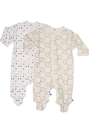 Pippi Unisex Baby Nightsuit W/F Buttons 2 Pack Sleepsuit, Off