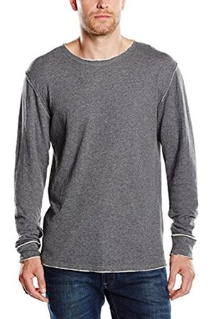 Men Sweatshirts - Solid Men's Sweatshirt Grau (DAR M 8236) Medium