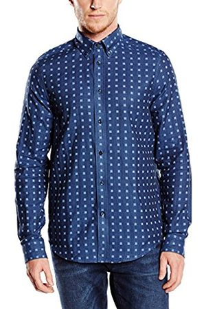 Men Long sleeves - Ben Sherman Men's Double Cloth Gingham Checkered Long Sleeve Casual Shirt