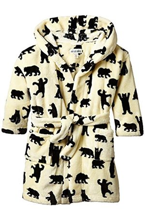 Boys Bathrobes - Hatley Little Blue House by Boy's Kids Fleece Black Bears On Natural Robe