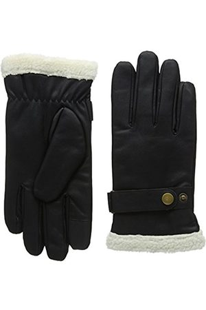 Men Gloves - Isotoner Men's Smartouch PU with Berber Cuff Gloves