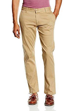 Men Slim & Skinny Trousers - Dockers Men's BIC PACIFIC WASHED KHAKI SLIM TAPERED - STRETCH TWILL Trouser, (NEW BRITISH KHAKI)