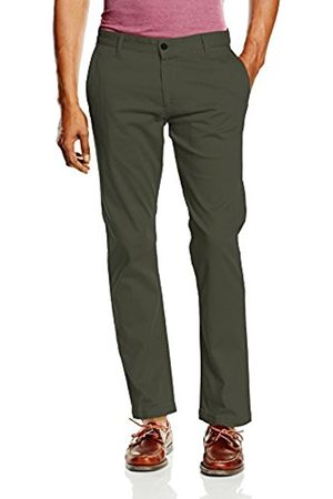 Men Slim & Skinny Trousers - Dockers Men's BIC PACIFIC WASHED KHAKI SLIM TAPERED - STRETCH TWILL Trouser, ( OLIVE)