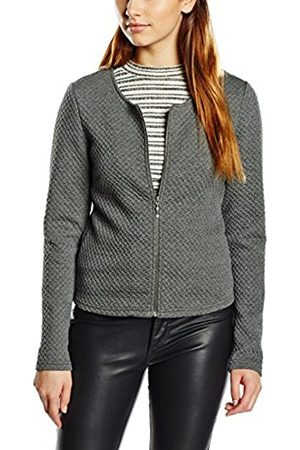 Women Blazers - Vila Women's Vinaja New Short Jacket-noos Blazer, (Medium Melange)