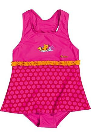 Girls Swimsuits - Playshoes Girl's UV Sun Protection Ruffle Skirt Bathing Suit Mouse Swimsuit