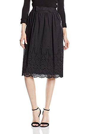 Women Skirts - Yumi Women's Broidery Hem Cotton Skirt