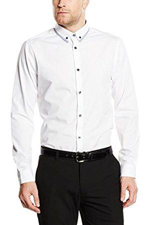 Men Long sleeves - New Look Men's Dobby Regular Fit Long Sleeve Formal Shirt