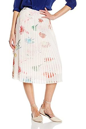 Women Printed Skirts - Yumi Women's Coral Printed Pleated Floral Skirt