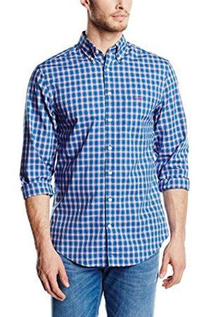 Men Shirts - GANT Regular Fit Leisure GC. Dogleg Poplin Check LS BD Shirt, Small