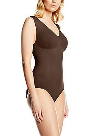 Women Bodies - Belly cloud Women's V-Body Mit Raffung Bodysuit, -Braun (Schokobraun 905)