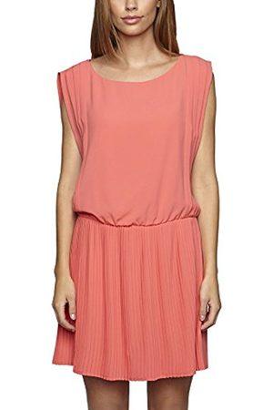 Women Sleeveless Dresses - Women's Pleated Plain Sleeveless Dress (hummer) 20