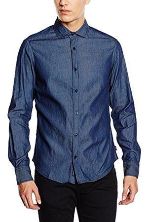 Men Denim - Armani Men's C6C747S Leisure Shirt, -Blau (Denim 15)
