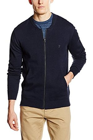 Men Long Sleeve - French Connection Men's Knitted Cotton Zip Through Plain Long Sleeve Jumper