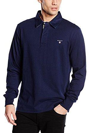 Men Polo Shirts - GANT Men's Original Heavy Rugger Long Sleeve Polo Shirt