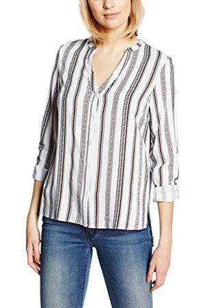 Women Shirts - New Look Women's Alexandra Stripe Grandad 3/4 Sleeve Shirt