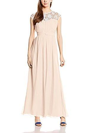 Women Maxi Dresses - Little Mistress Women's Nude Sheer Lace Maxi Dress Empire Plain Sleeveless Dress