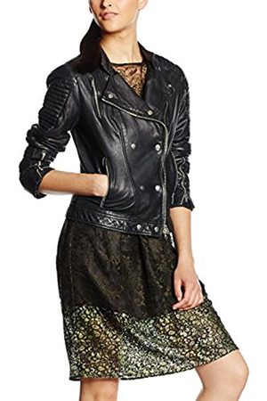 Women Leather Jackets - Gestuz Women's Melanie Leather Long Sleeve Jacket