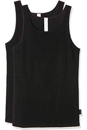 Men Vests & T-shirts - Sloggi Men's Men 24/7 Sh 02 Vest 2p Vest, (Noir)