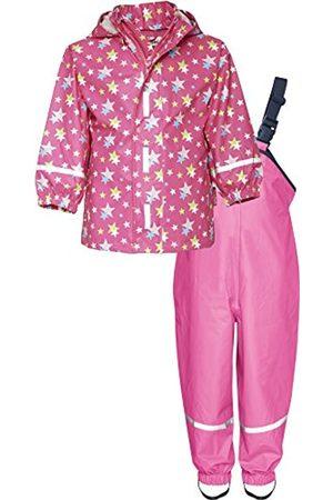 Girls Rainwear - Playshoes Girl's Waterproof Rainsuit Stars Raincoat