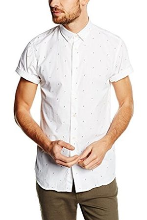 Men Business - Jack & Jones Men's Jjcodean S/S NO Pocket Business Shirt, -Weiß ( Print:Slim Fit)