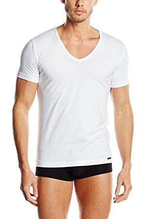 Men Vests & T-shirts - OLAF BENZ Men's RED1601 V-Neck Low Vest, -Weiß ( 1000)