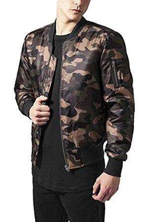 Urban classics Men's Camo Basic Bomber Jacket, (Wood
