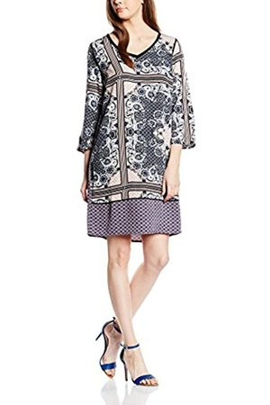 Women Dresses - Saint Tropez Women's N6044 Dress, Multicoloured-Mehrfarbig (Deepblue 9244)
