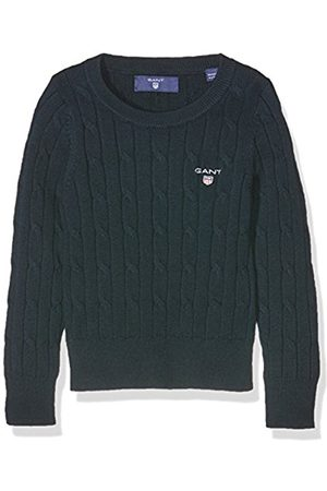Girls Jumpers & Sweaters - GANT Girl's O Stretch Cotton Cable Crew Jumper