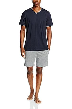 Men Pyjamas - Marc O' Polo Men's 154528 Pyjama Set, -Blau (Nachtblau 804)
