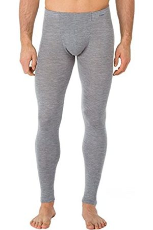 Men Ski Thermal Underwear - Calida Men's Hose Wool & Silk Thermal Bottoms, -Blau (Platin Melé 856)