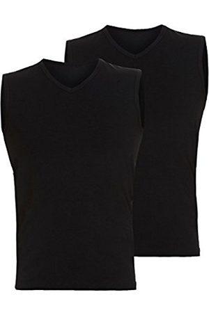 Men Vests & Camis - Bruno Banani Men's Tanktop 2Pack Cotton Simply Vest, -Schwarz (Schwarz 7)