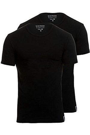 Men Vests & T-shirts - Bruno Banani Men's Shirt 2Pack Cotton Simply Vest, -Schwarz (Schwarz 7)
