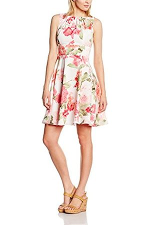 Women Dresses - Swing Women's 500474-00 Dress, Multicoloured-Mehrfarbig (Cremeweiß/Kamin Rot 9463)