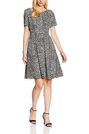 Women Dresses - Swing Women's 500410-00 Dress, Multicoloured-Mehrfarbig (Cremeweiß/Schwarz 9410)