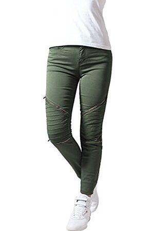Urban classics Women's Ladies Stretch Biker Pants Trousers