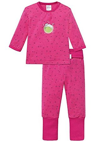 Bathrobes - Schiesser Baby Girls' Anzug 2-Teilig Pyjama Set, -Rot ( 504)