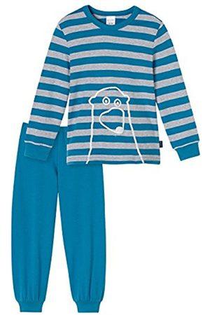Boys Bathrobes - Schiesser Boy's Kn Schlafanzug Lang Pyjama Sets, -Grau (Grau-Mel 202)