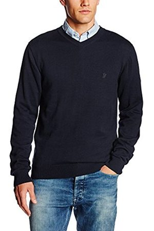 French Connection Men's Knitted Cotton V-Neck Jumper