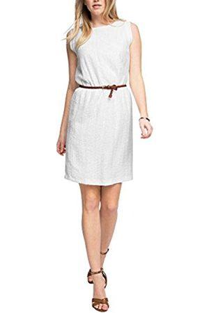 Women Dresses - Esprit Collection Women's 056EO1E019-Belt Dress, -Weiß ( 100)