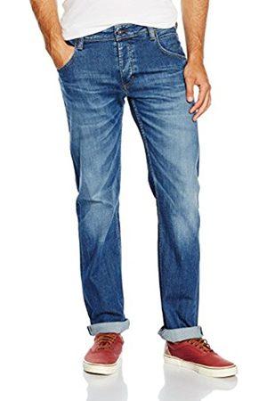 Men Straight - Mustang Men's Michigan Straight Jeans, Heritage Flat Optic Stretch Denim Dark Rinse