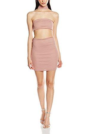 Women Sleeveless Dresses - Women's High Neck Bandage Body Con Sleeveless Dress