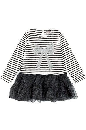 Girls Dresses - Boboli Girl's Combined Dress, -Grau (Stripes 9323)