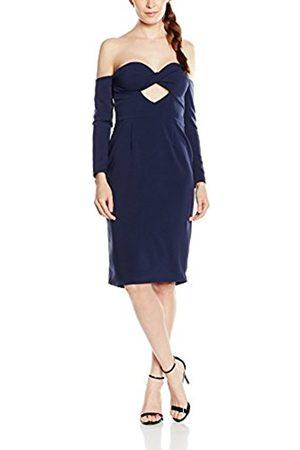 Women Midi Dresses - Lavish Alice Women's Navy Bandeau Cut-Out Midi , Open dress long sleeve Dress
