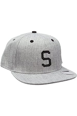 Men Hats - MSTRDS Letter Snapback S Baseball Cap, -Grau (S 1180,4634)