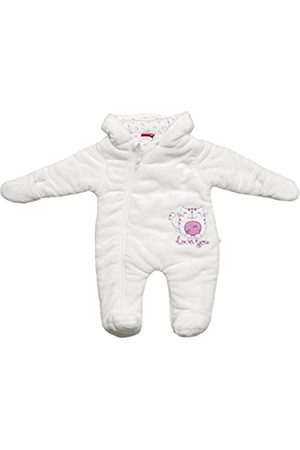 Long Sleeve - SALT AND PEPPER Baby Girls Hooded Long Sleeve Snowsuit - - 3-6 Months