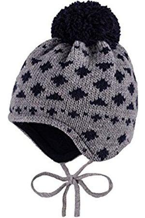 Boys Hats - maximo Boy's Mütze, Pompon, Bindeband, Fleecefutter Hat, Multicoloured-Mehrfarbig (Metallmeliert/Navy 548)